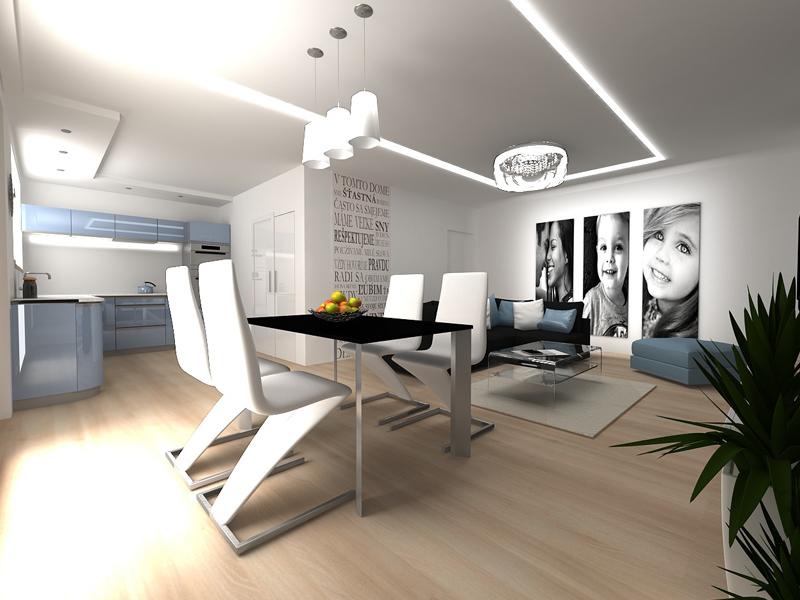 Vestavěná kuchyně s obývákem